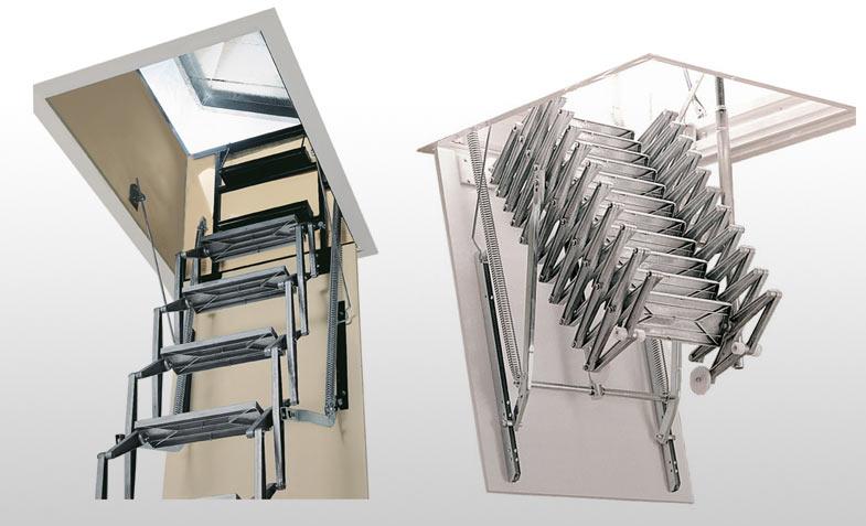 Escaleras escamoteables aislamientos y piscinas en for Escalera escamoteable